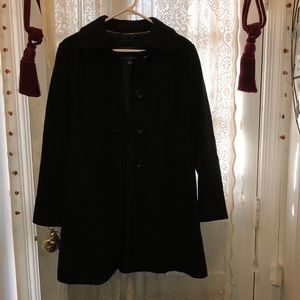 Banana Republic Jackets & Coats - BANANA REPUBLIC-BLACK WOOL CAR COAT